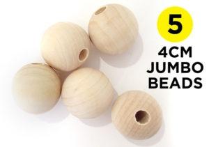 4cm Jumbo Round Beads