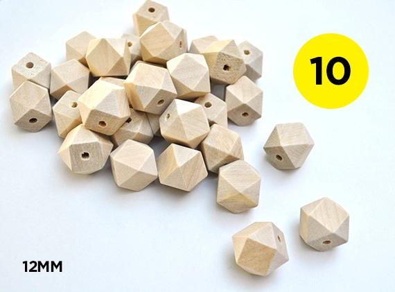 12mm Geometric Beads