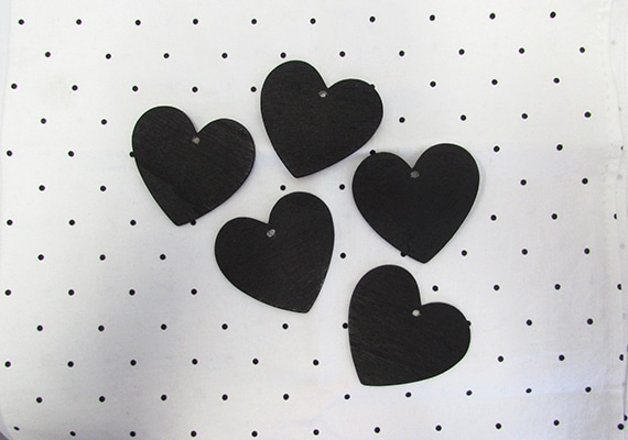 5 Heart Chalkboards