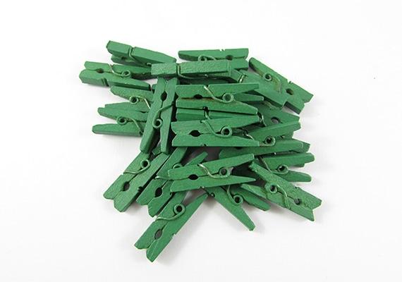 25 Mini Dark Green Pegs