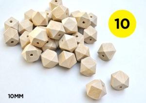 10mm Geometric Beads