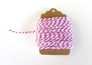 Baker's Twine Rose Red & White
