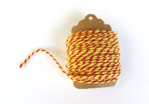 Baker's Twine Red & Yellow