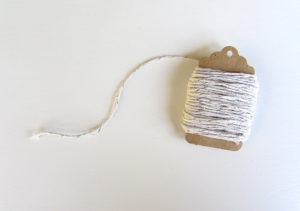 Baker's Twine Silver & White