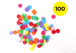 1cm Felt Confetti