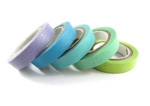 Blue Washi Tape 5 Pack