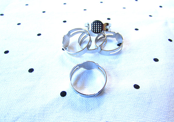Adjustable Silver Ring Base Blank