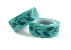 Washi Tape Aqua Floral Pattern
