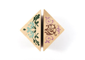 Small Square Wooden Corner Stamps