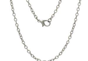 62cm Silver Chain