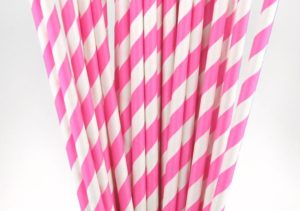25 Pink Paper Straws