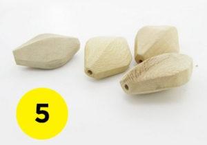 5 Rhombus Beads
